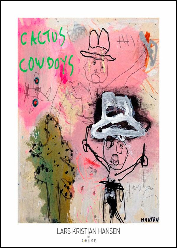 Kunstplakat cactus cowboys